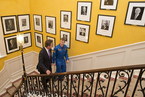David Cameron and Maj Tim Peake Photo Credit: The Prime Minister's Office
