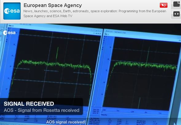 Rosetta awakens - signal from spacecraft reaches Earth