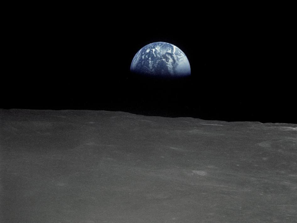 Earthrise as seen from Apollo 16. Credit: NASA