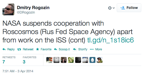 Tweet from Dmitry Rogozin