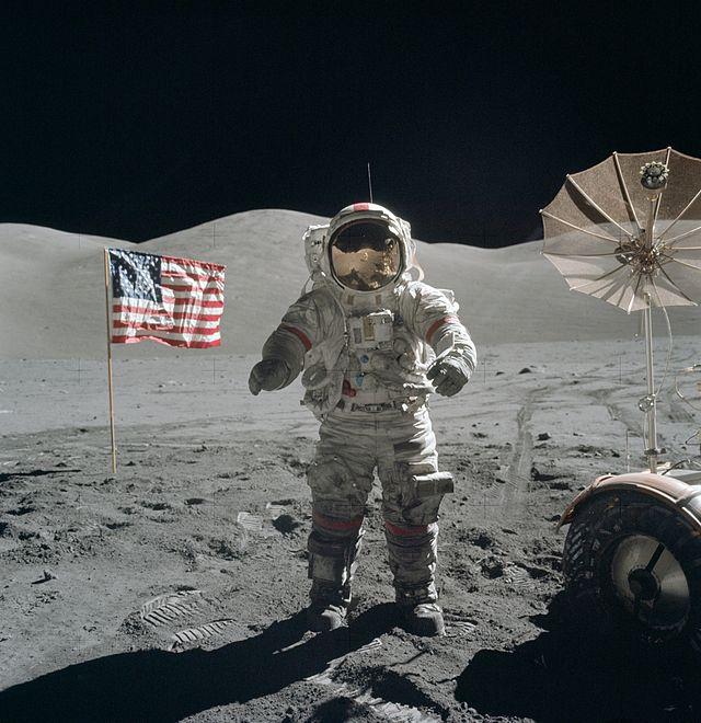 Gene Cernan on the Moon - Apollo 17