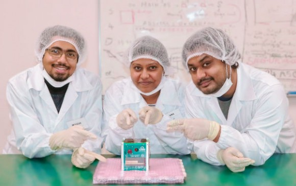 The team behind the Bangladesh's first satellite, BRAC Onnesha Credit: BRAC Onnesha