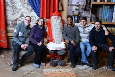 We met Santa
