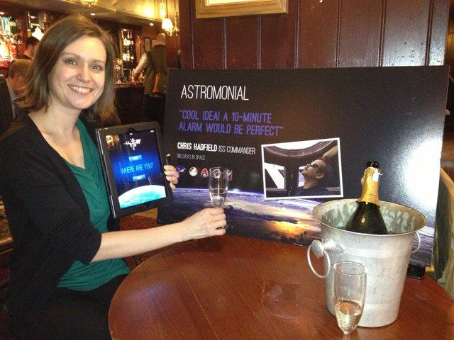 Kate Arkless Gray celebrates the T-10 win
