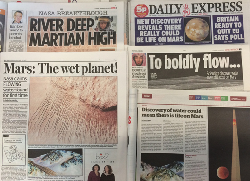 Mars headlines